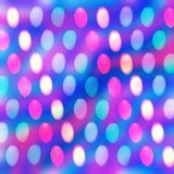 Abstract pink and purple blurred bokeh background stock illustration