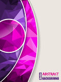 Abstract pink purple brochure with polygons Royalty Free Stock Photos