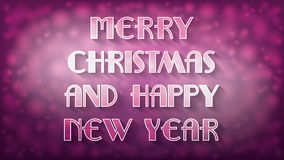 Abstract pink and purple Christmas illustration Royalty Free Stock Photo