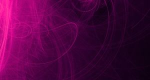 Abstract pink and purple light glows, beams, shapes on dark background. Abstract pink and purple light and laser beams and glowing shapes multicolored art royalty free illustration