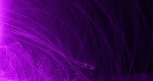 Abstract pink and purple light glows, beams, shapes on dark background royalty free illustration