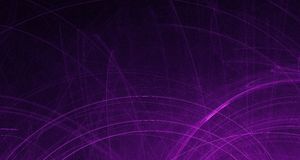 Abstract pink and purple light glows, beams, shapes on dark background stock illustration