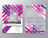 Abstract pink & purple weave Brochure annual report cover Flyer Stock Photo