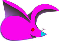 Abstract pink rabbit Royalty Free Stock Photos