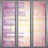 Abstract Pink Rectangle Shapes Banner. Stock Photo