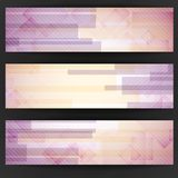Abstract Pink Rectangle Shapes Banner. Stock Photography