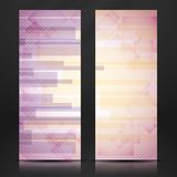 Abstract Pink Rectangle Shapes Banner. Royalty Free Stock Photography