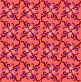 Abstract pink and red floral geometric Seamless Te Royalty Free Stock Image