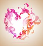 Abstract pink and red heart. Beautiful Valentines background with abstract pink and red heart royalty free illustration