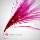 Abstract pink and red lines curve circle swirl technology with s. Parkling light vector illustration element copy space Stock Photography