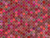 Abstract pink red pattern backdrop. With triangular shape vector illustration