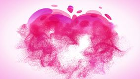 Abstract pink romantic background with heart and stock footage