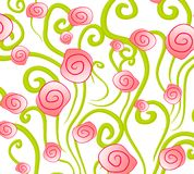 Abstract Pink Roses Background vector illustration