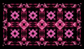 Abstract pink seamless pattern Stock Photos