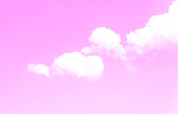 Abstract pink sky. And cloud background Stock Photos
