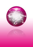 Abstract pink sphere Royalty Free Stock Photos