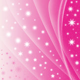 Abstract pink star background Stock Image