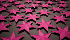 Abstract pink stars Royalty Free Stock Image