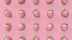 Abstract pink strawberry pattern minimal pink background 3d rendering. 3d abstract pink strawberry pattern minimal pink background 3d rendering vector illustration
