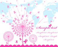 abstract pink Support Ribbon  background Royalty Free Stock Photography