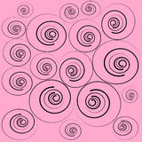 Abstract Pink Swirl Background Stock Photos