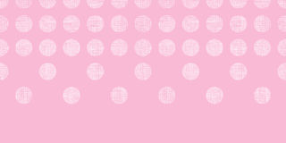 Abstract pink textile dots horizontal seamless pattern background Royalty Free Stock Photo