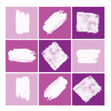 Abstract Pink to Purple Collage Stock Photo