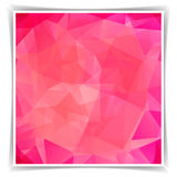 Abstract Pink Triangle Polygonal background Stock Image