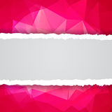 Abstract Pink Triangular Polygonal torn paper Stock Photos