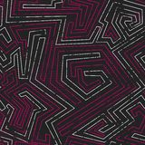Abstract pink tribal seamless pattern with grunge effect Stock Photography