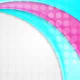 Abstract pink and turquoise waves with circles Royalty Free Stock Photo