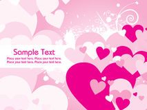 Abstract pink valentine card Royalty Free Stock Photo