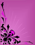 Abstract pink vector background with light Stock Photo