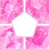 Abstract pink vector card with lace label Stock Image