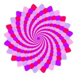 Abstract pink and violet mandala, Flower isolated on white background, Fractal purple and magenta bloom, Esoteric petal mandala. Abstract pink and violet mandala Royalty Free Stock Images