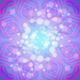Abstract pink-violet round pattern with lights Stock Images