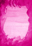 Abstract pink watercolor on paper texture as background Stock Photos