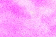 Abstract pink watercolor on white background.The color splashing in the paper.It is a hand drawn. stock photos