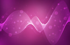 Abstract pink waves background Royalty Free Stock Images