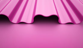 Abstract pink waves background rendered Royalty Free Stock Photo