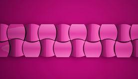 Abstract pink waves decorative background Stock Image
