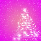 Abstract pink winter holiday background/greeting card Royalty Free Stock Images