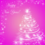Abstract pink winter holiday background/greeting card Royalty Free Stock Image