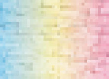 Abstract pink yellow blue color geometric square mosaic tiles te Royalty Free Stock Photos