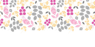 Abstract pink, yellow and gray leaves horizontal Stock Image