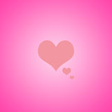 Abstract Pink with yellow heart background layout design, web te Stock Photos
