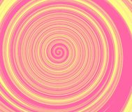 Abstract pink and yellow hypnotic swirl.Beauty fashion background. royalty free stock photo