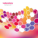 Abstract pink-yellow laboratory background. Royalty Free Stock Image