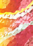 Abstract pink and yellow triangle with dot screen Royalty Free Stock Photos