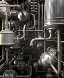 Abstract pipes. Infinity network from 3d pipes Stock Photos